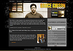 Bruce Gibson Music Website Screenshot