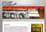 Commercial and Coin Laundry Equipment Company Website Screenshot