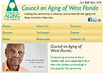 Council on Aging Website Screenshot