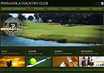 Pensacola Country Club Website Screenshot